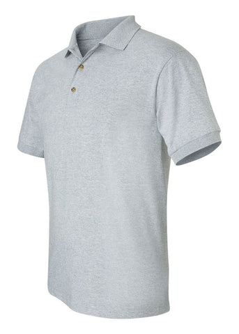 Image of Men's Gildan Ultra Heavy Cotton Jersey Sport Grey Shirt Polo