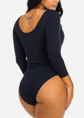 Image of Casual Navy Bodysuit