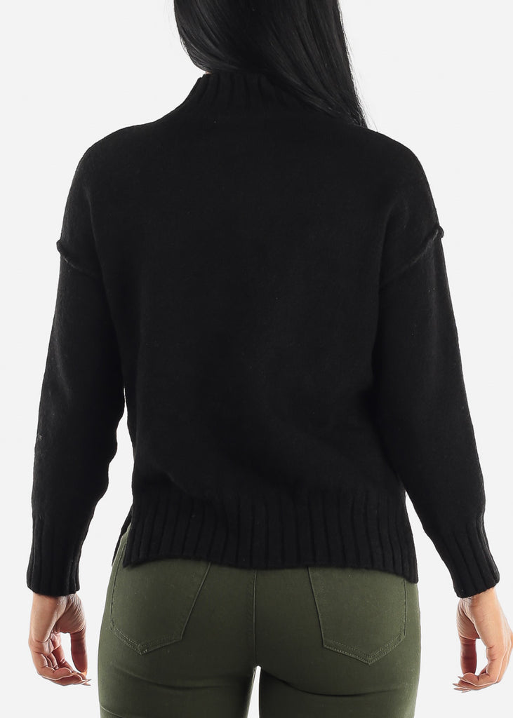 Ribbed Warm Black Sweater