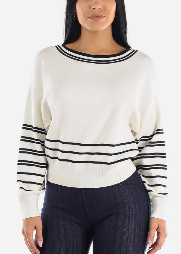 Pretty White Dolman Sweater