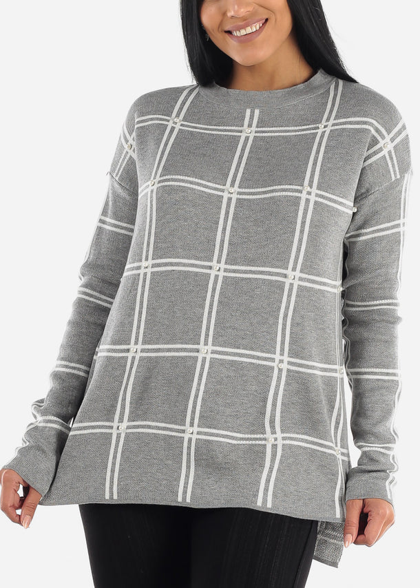 Classic Long Sleeve Loose Printed Sweater