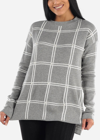 Image of Classic Long Sleeve Loose Printed Sweater