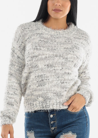 Image of Tie Dye Eyelash Knit Sweater