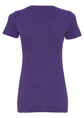 V-neck Basic Purple Tshirt