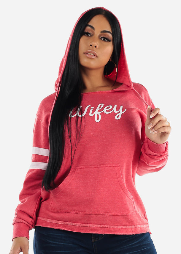 Red Graphic Hoodie