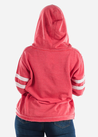 "Red Graphic Hoodie ""Wifey"""