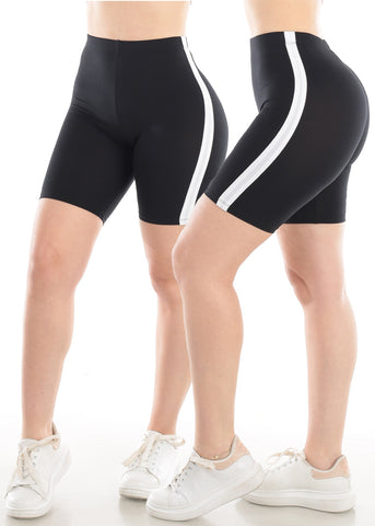 Biker Black Shorts (2 PC PACK)