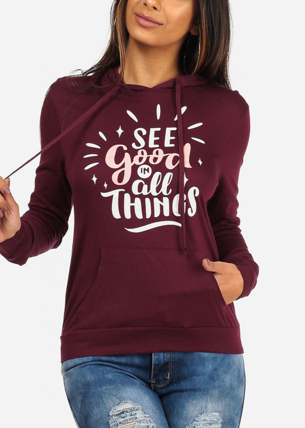 See Good In All Things Long Sleeve Sweater Pullover Hoody