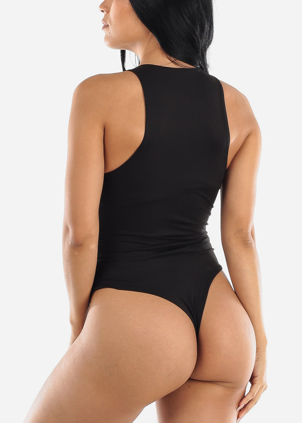 Sleeveless Black Bodysuit