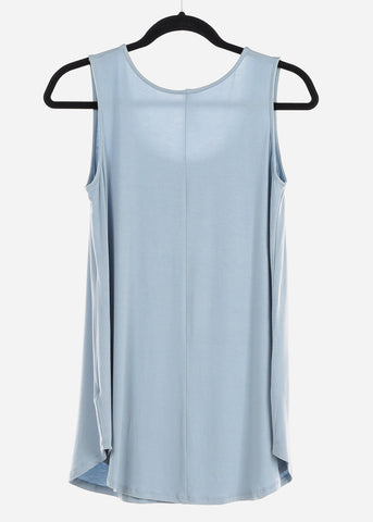 "Image of Light Blue Graphic Tank Top ""Heart Breaker"""