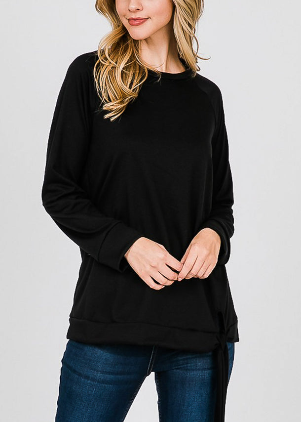Oversized Black Pullover Top