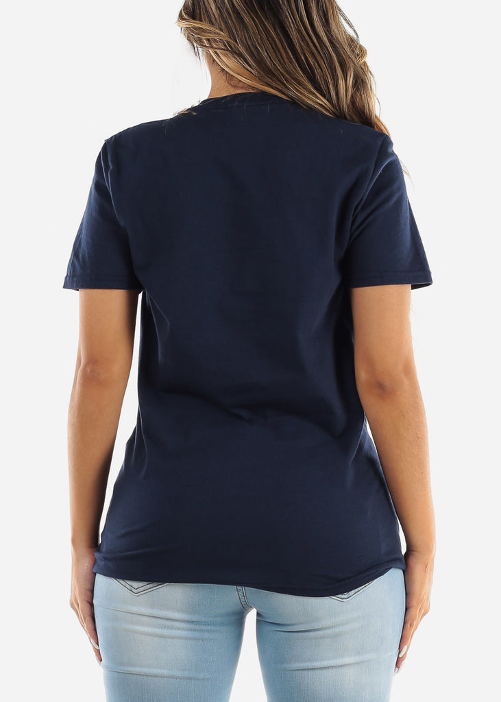 "Navy Graphic T-Shirt ""Wifey"""