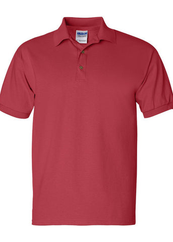 Image of Men's Gildan Ultra 100% Heavy Cotton Red Jersey Sport Shirt Polo