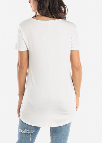 "Image of Ivory Graphic Top ""Faith"""