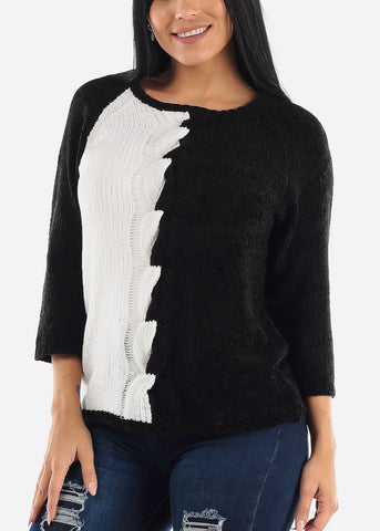 Three Quarter Color Block Sweater
