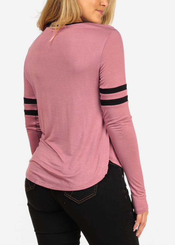 Meow Graphic Pink Top