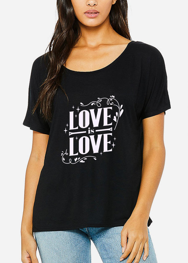 "Black Graphic Top ""Love Is Love"""
