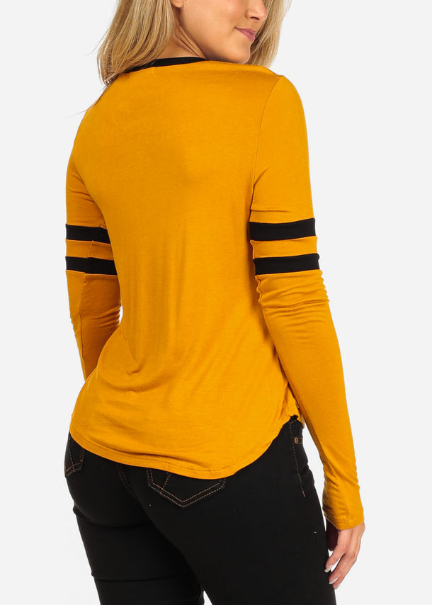 Priceless Graphic Mustard Top