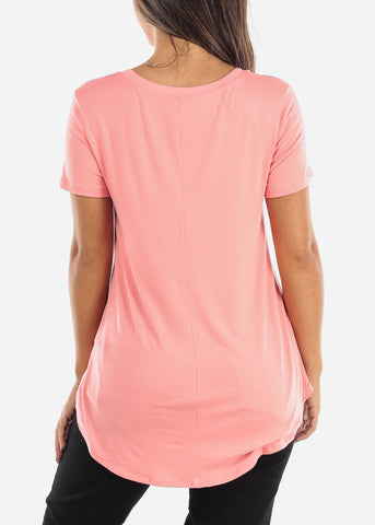 Image of Paint Your Dreams' Pink V-Neck Top