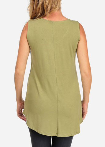 Image of Mom in the Making Basic Graphic Green Top For Maternity Pregnant Women