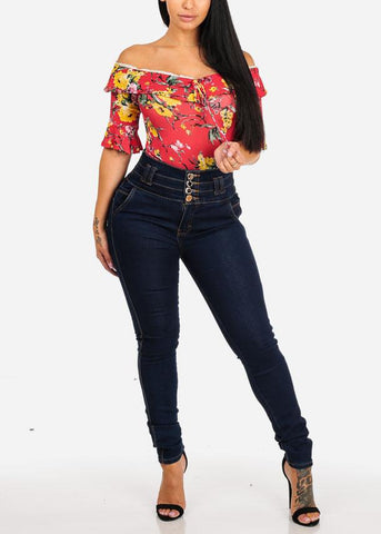 Affordable Casual Floral Print Top