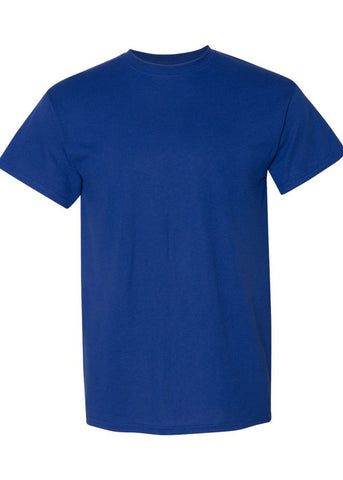 Men's Gildan Dryblend 50/50 Men's Crew Neck Royal Blue Tshirt