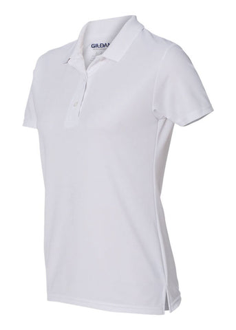 Image of Women's Gildan White Polo Shirt