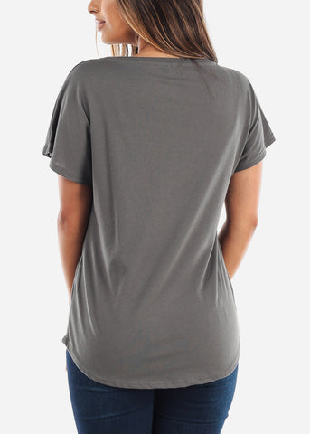 Image of Women's Next Level Light Dolman Dark Grey Tshirt