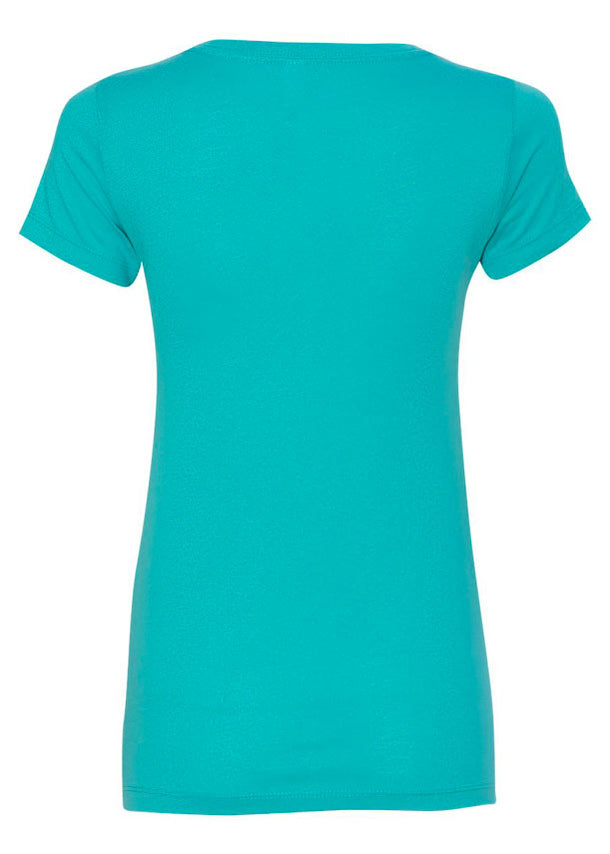 Women's V-Neck Tahiti Blue Tshirt