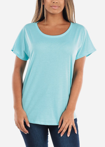 Image of Cheap Scoop Neck Dolman Light Cancun Tshirt
