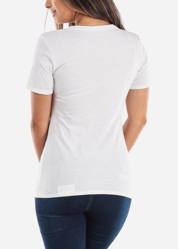 Women's Russel Athletic White Tee