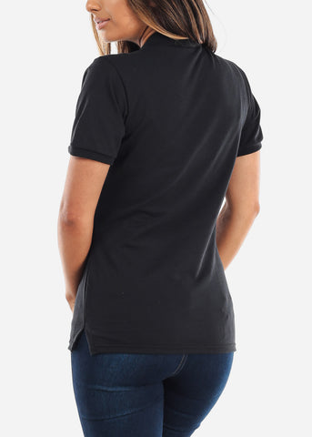 Image of Women's Jerzees Black Polo Shirt
