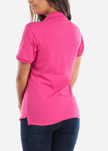 Image of Women's Cyber Pink Polo Shirt
