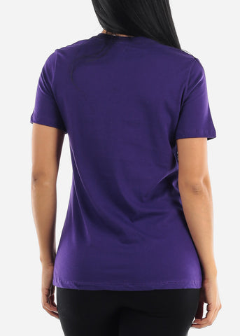 Purple Crew Neck Tshirt