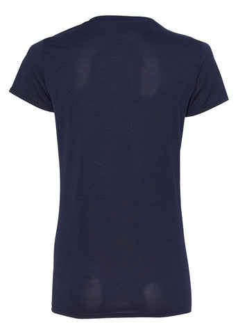Image of Women's Gildan Tech Navy Tshirt