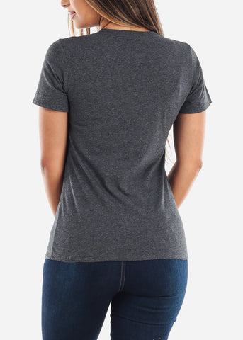 Image of Women's Russel Athletic Black Heather Tee