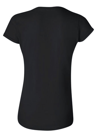Image of Women's Gildan Softstyle Black Tshirt