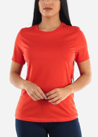 Image of Orange Crew Neck T-shirt
