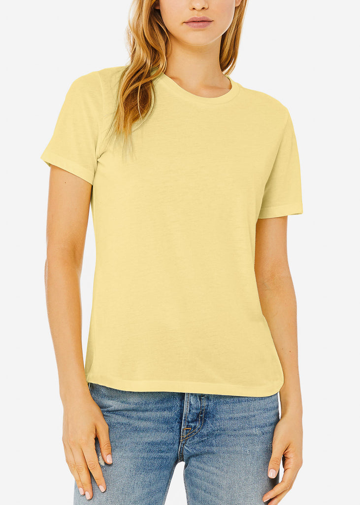 Yellow Relaxed Fit Triblend Tee