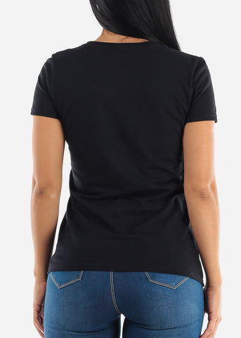 Image of Black Crew Neck T-shirt