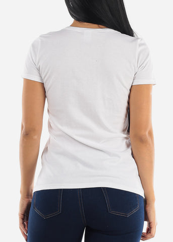 White Crew Neck T-shirt