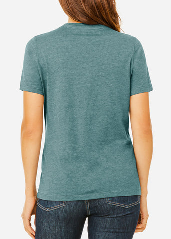 Heather Slate Relax Fit Tee