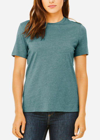 Image of Heather Slate Relax Fit Tee