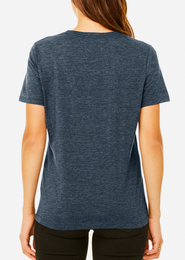 Heather Navy Relax Fit Tee