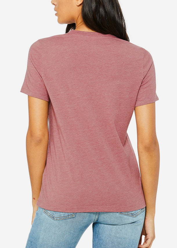 Heather Mauve Relax Fit Tee