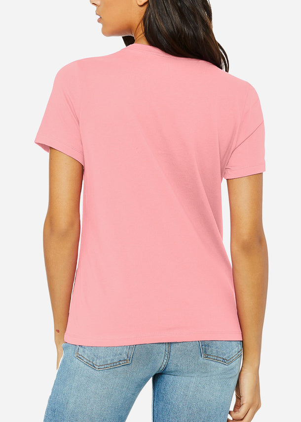 Pink Relaxed Jersey Tee