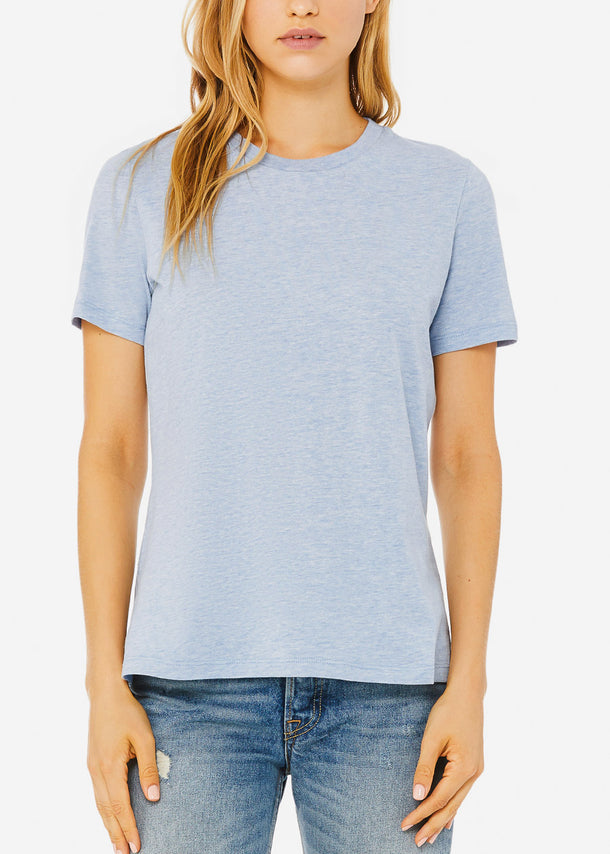 Heather Prism Blue Relax Fit Tee