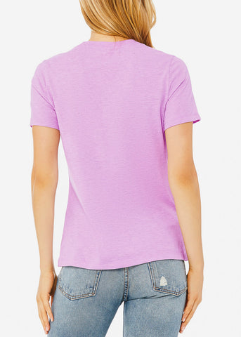 Image of Heather Prism Lilac Relax Fit Tee