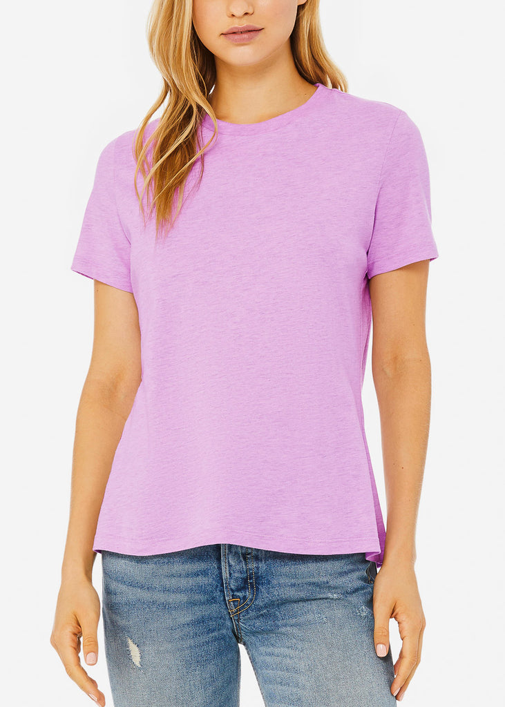 Heather Prism Lilac Relax Fit Tee