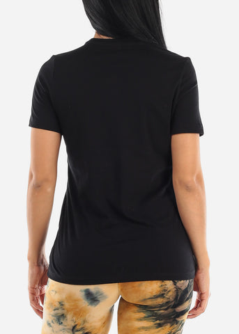 Image of Black Relaxed Jersey Tee